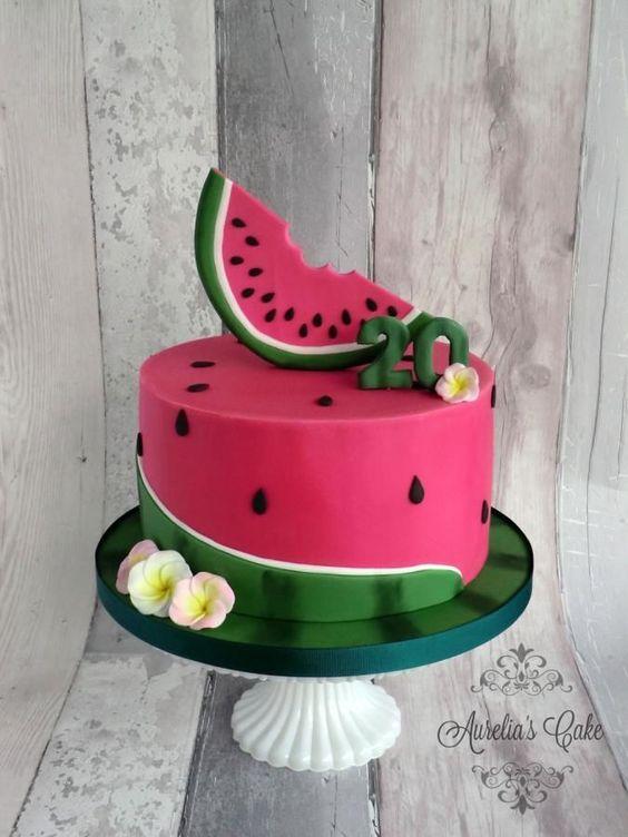 bolos decorados melancia 5