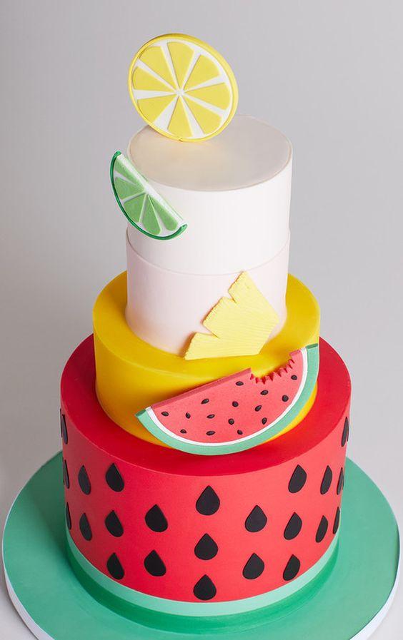 bolos decorados melancia 6