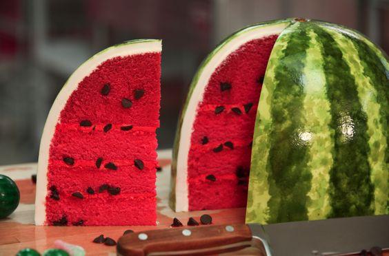 bolos decorados melancia 7