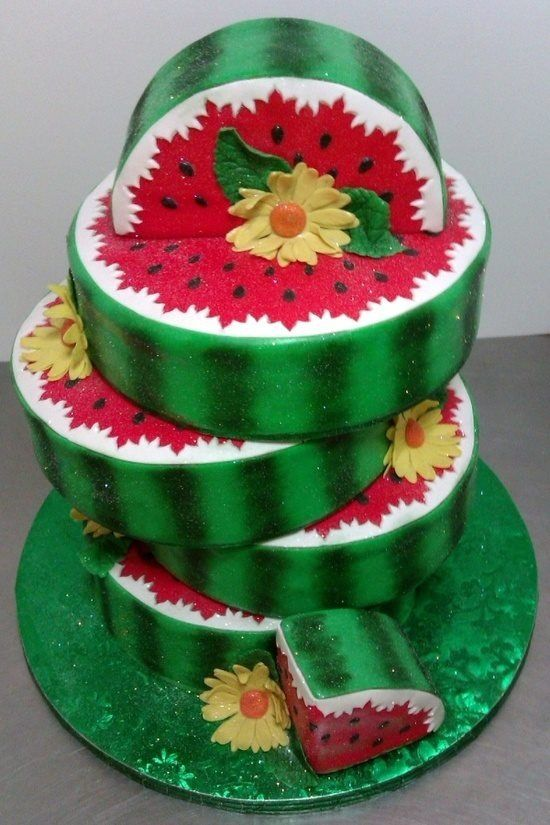 bolos decorados melancia 9
