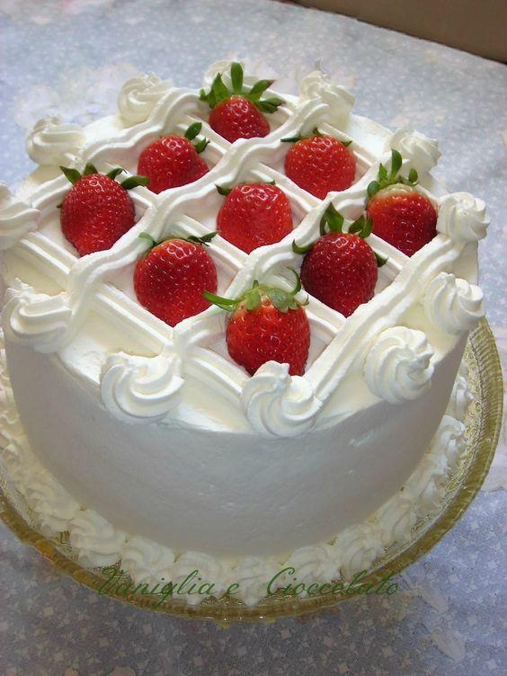bolos decorados morangos 8