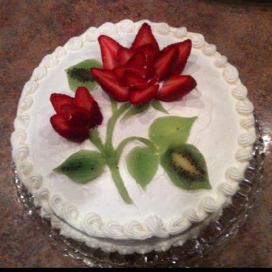 bolos decorados morangos 9