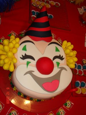 bolos decorados palhaços