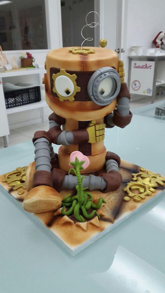 bolos decorados robos 4