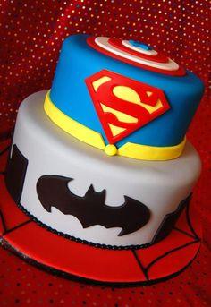 bolos decorados super herois
