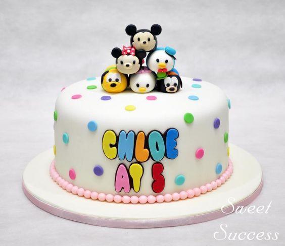 bolos decorados tsum tsum 7