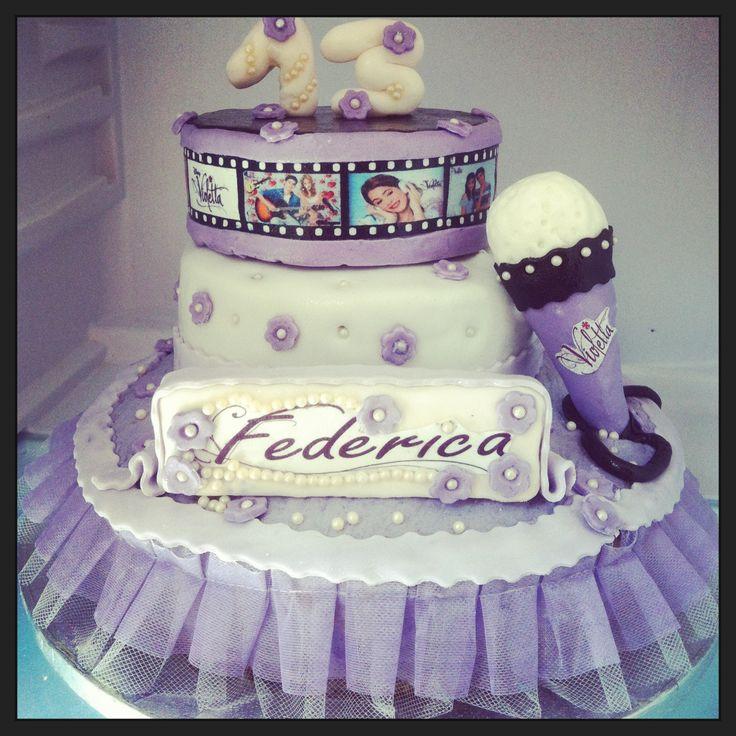 bolos decorados violetta