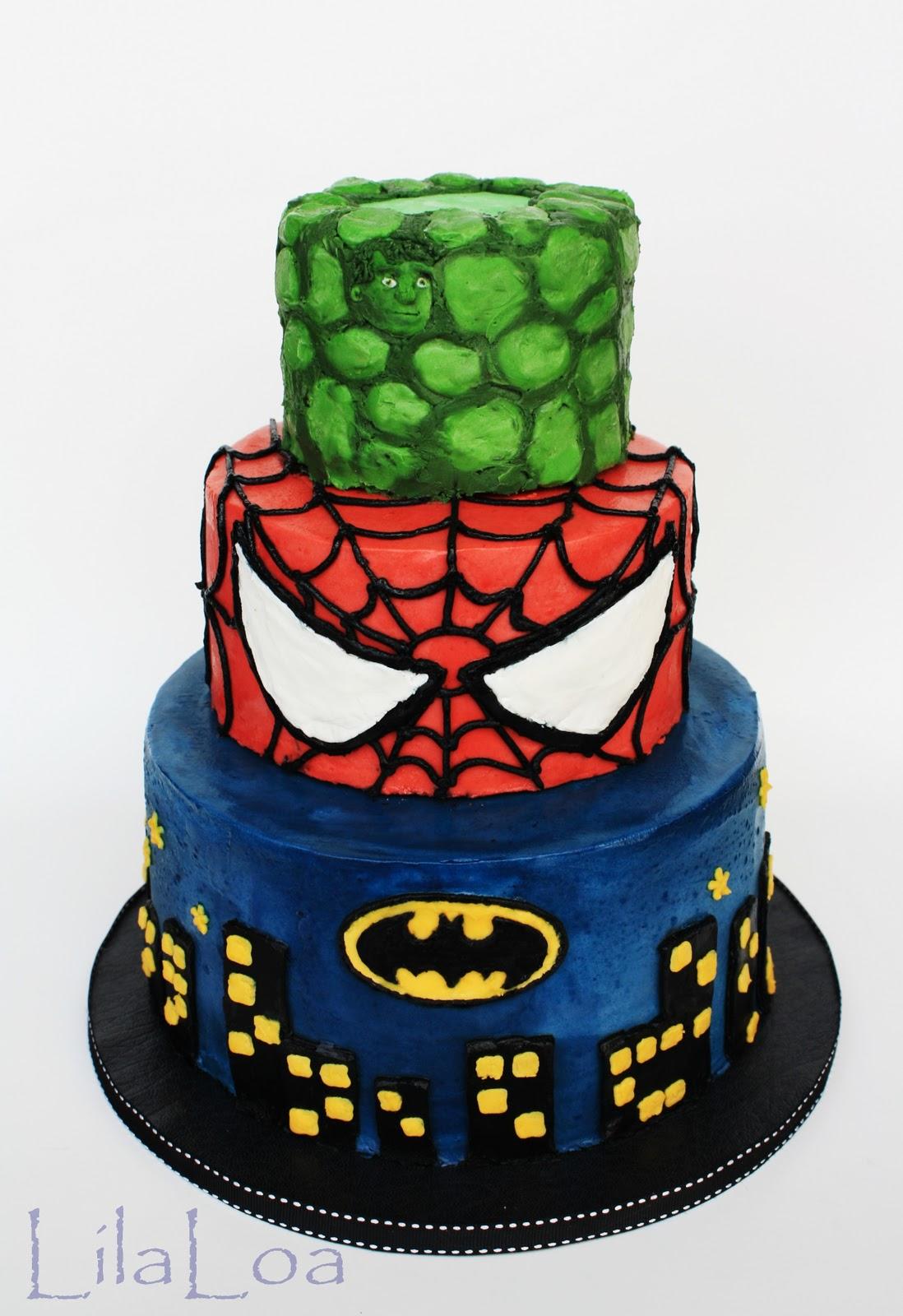 bolos dos super herois