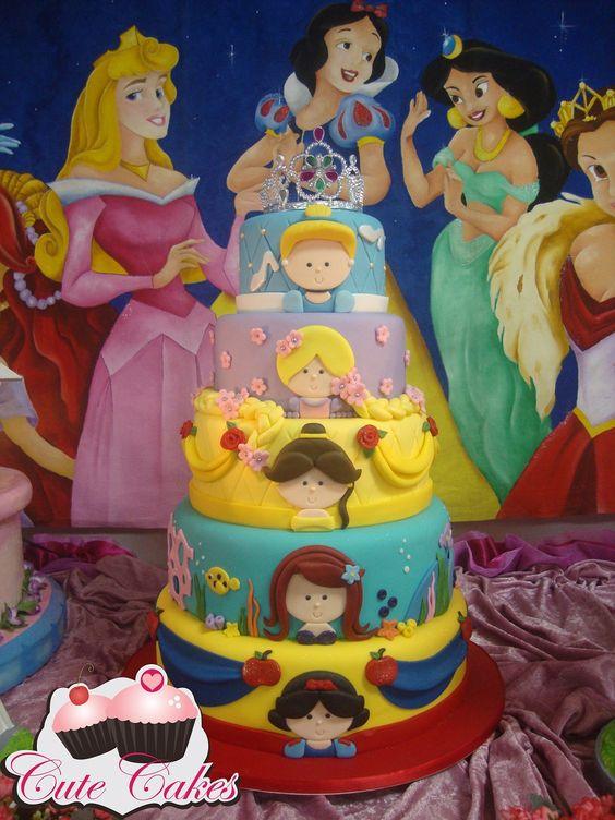 bolos princesa disney