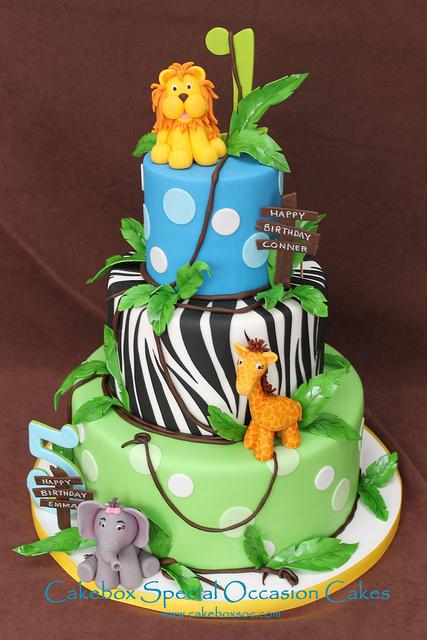 bolos selva decorados