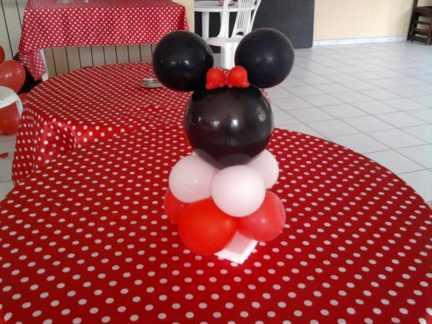 centro mesa decoraçao minnie