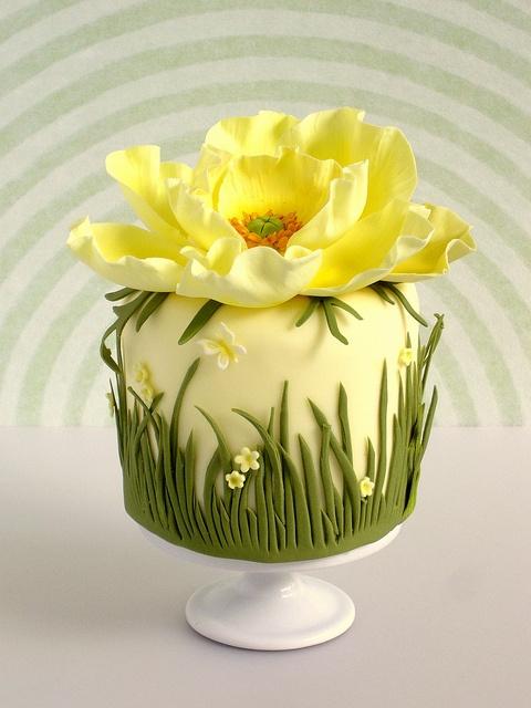 cupcake amarelo
