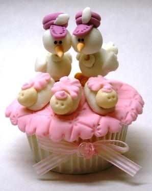 cupcake cha bebe menina