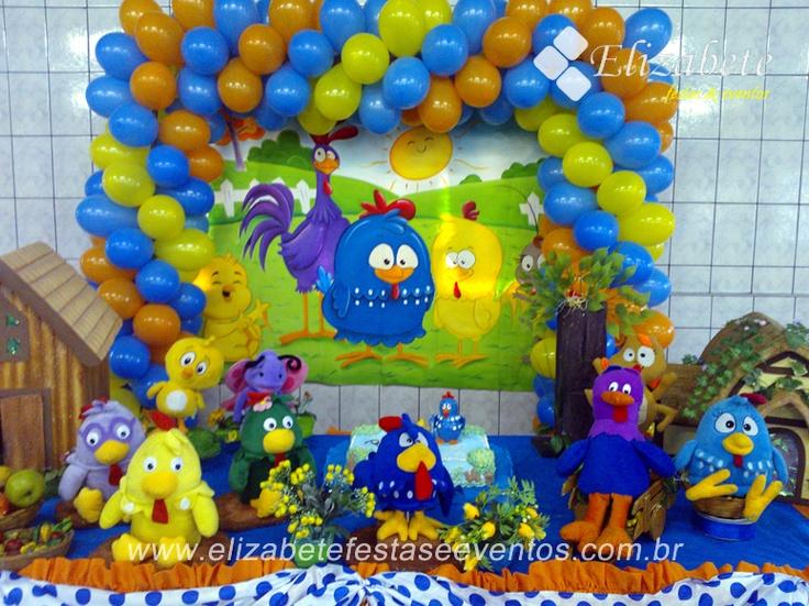 decoração infantil galinha pintadinha
