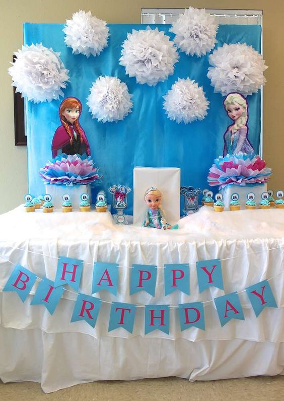9 ideias diy para decora o de festa frozen for Mesa gaming barata