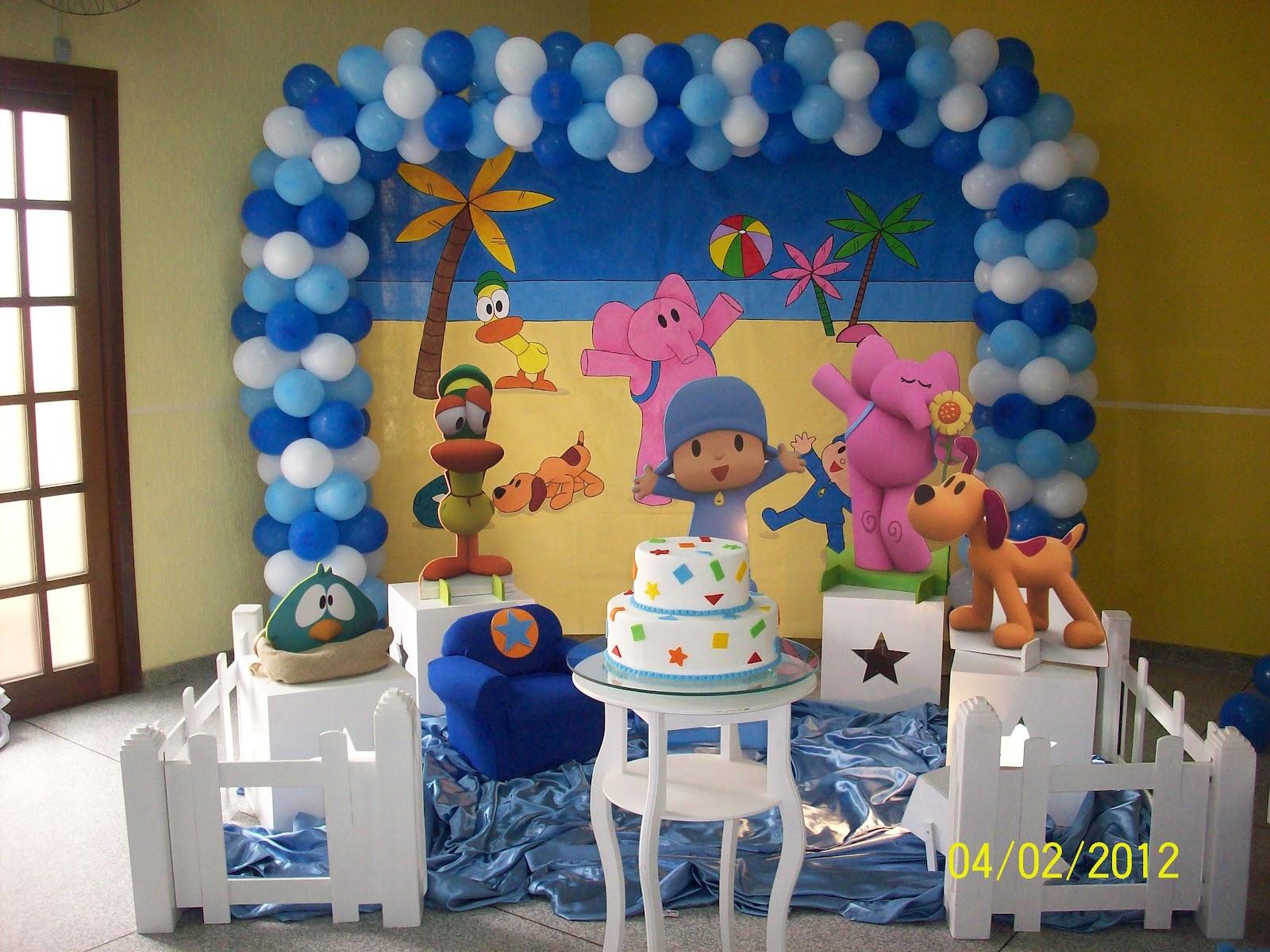 decoraçao festa pocoyo