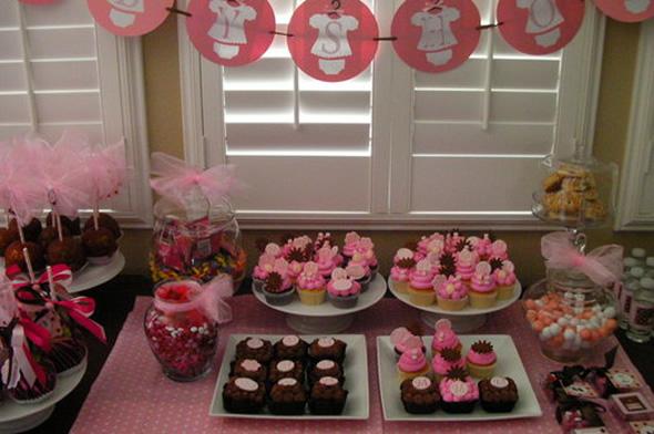 decoracao cha de bebe rosa