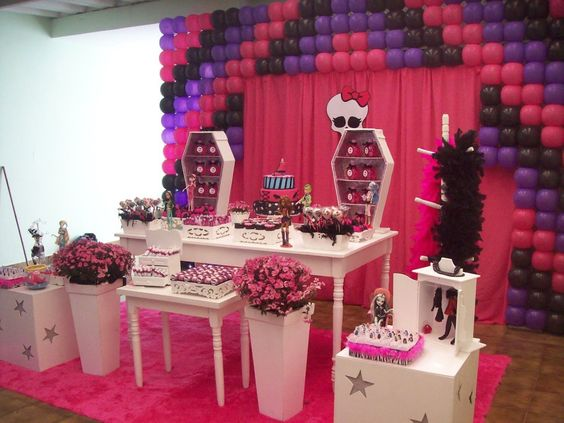 decoracao festa Monster High 9