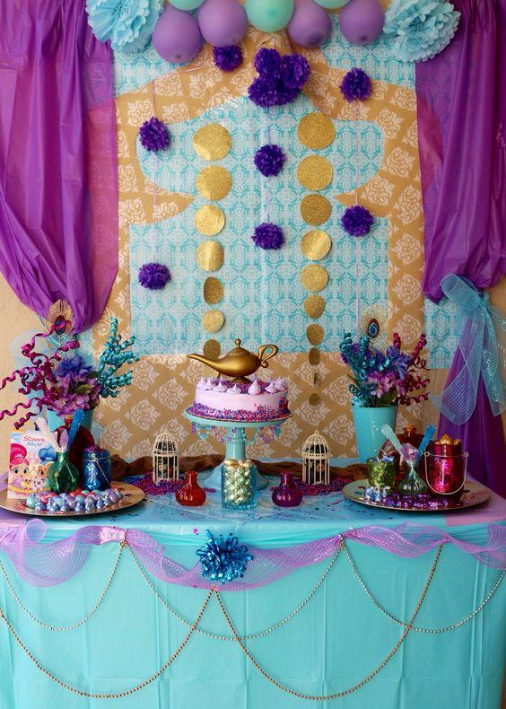 decoracao festa Shimmer Shine 3