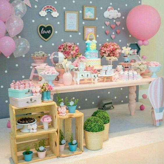 decoracao festa chuva amor