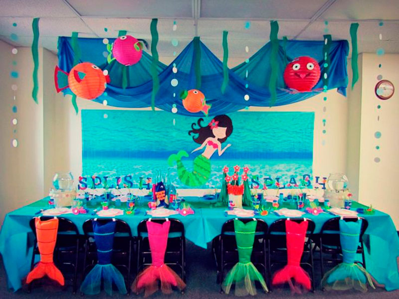 decoracao festa fundo mar 2