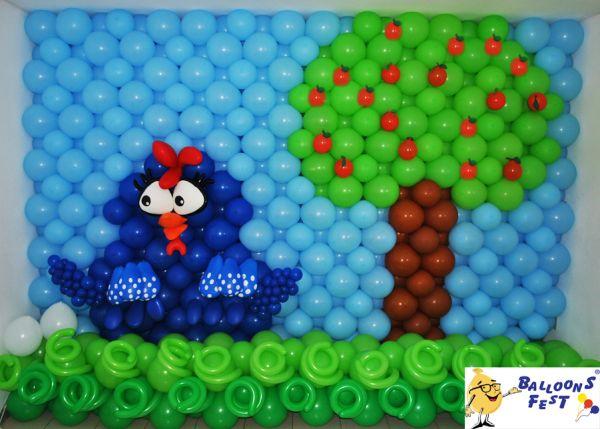 festa-aniversario-galinha-pintadinha-baloes