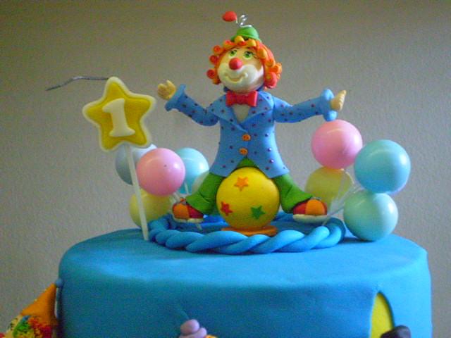 festa bolo circo palhaço