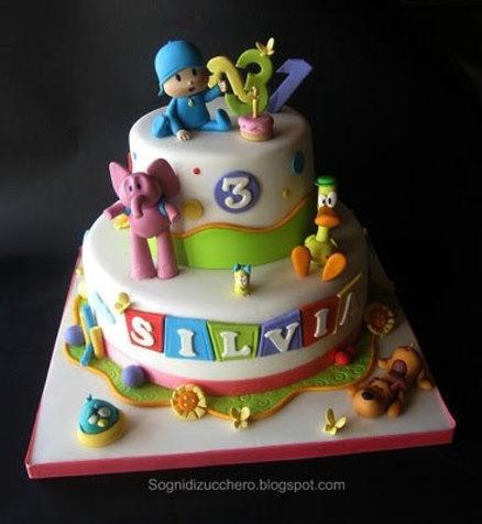 festa infantil bolo pocoyo