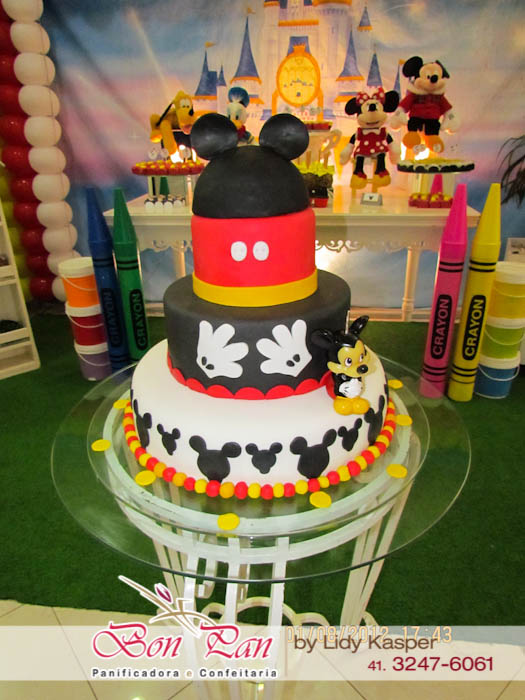 ideia bolo decorado mickey