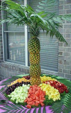 ideias servir fruta casamento