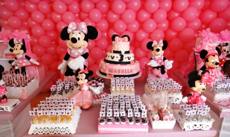 mesa decorada festa minnie
