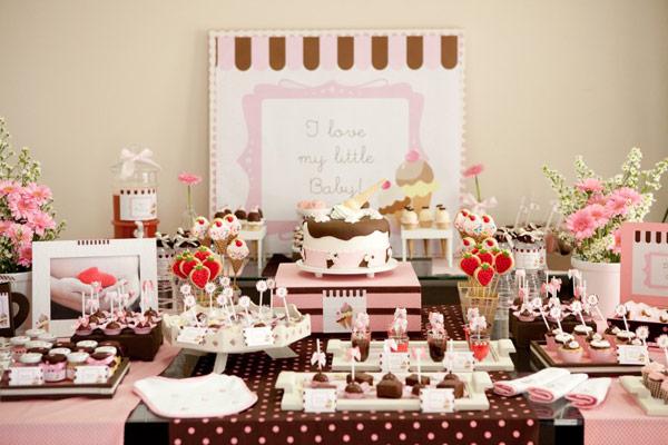 mesa doces cha bebe