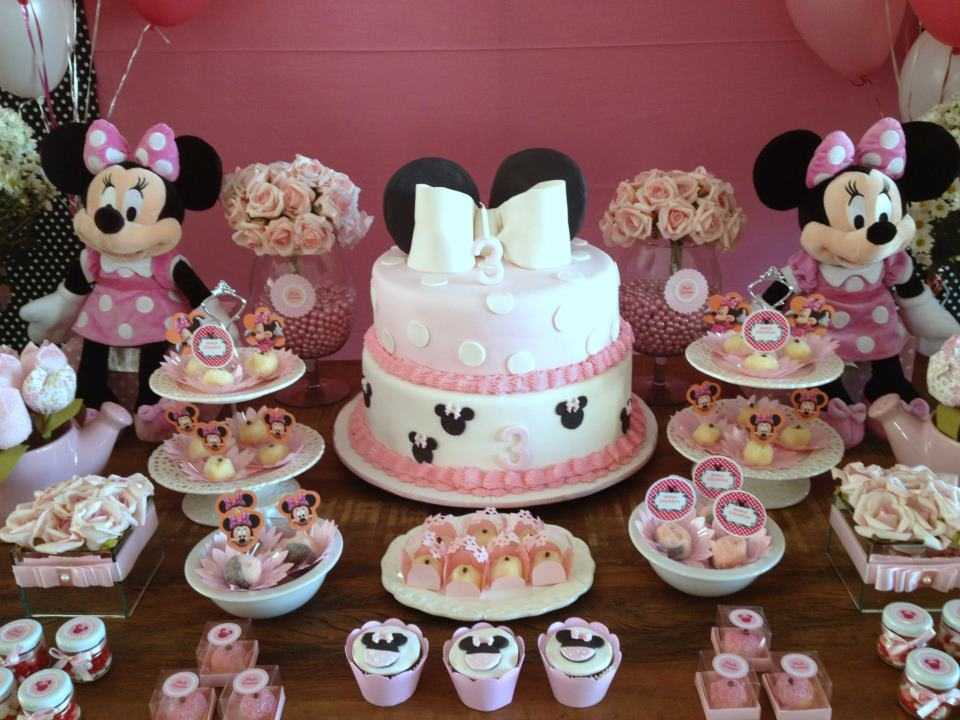 mesa doces festa minnie