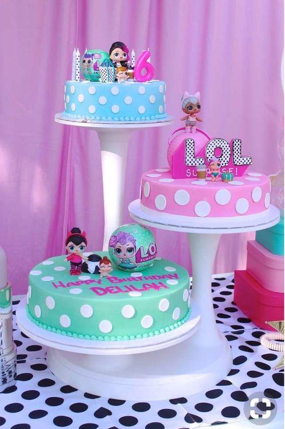modelos bolos bonecas lol 8