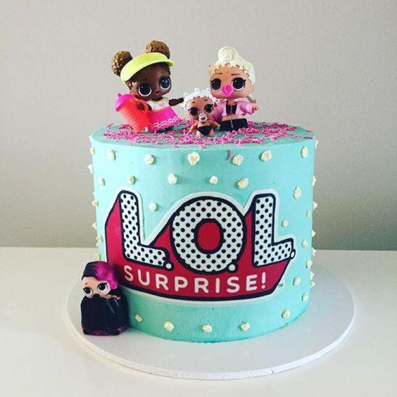 modelos bolos bonecas lol1