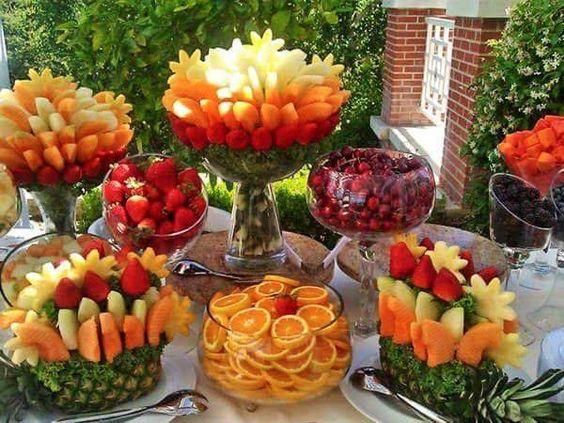 servir fruta casamento 1