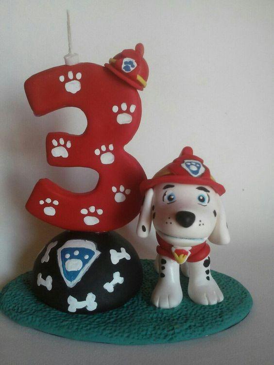 topo bolo aniversario patrulha canina