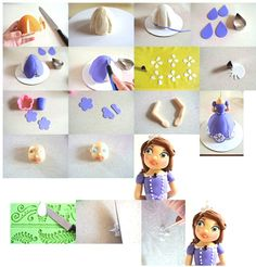 Bolos decorados da Princesa Sofia- Fotos e tutorial